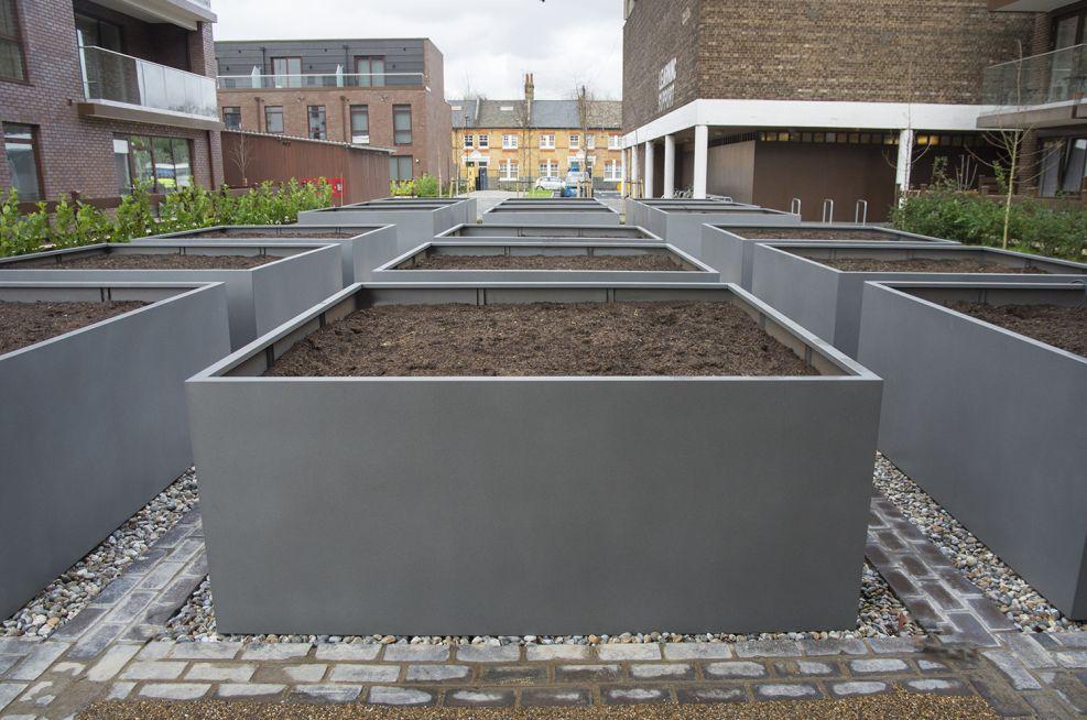 Bespoke Steel Grid Planters London