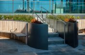 Bespoke Stainless Steel Benching and Planter Garden