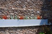 Small Trough Planter Coated with White Aluminium