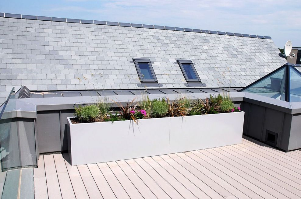 Steel Planters With Semi-Gloss Finish
