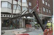 Hotel Custom Metalwork Entranceway Installation