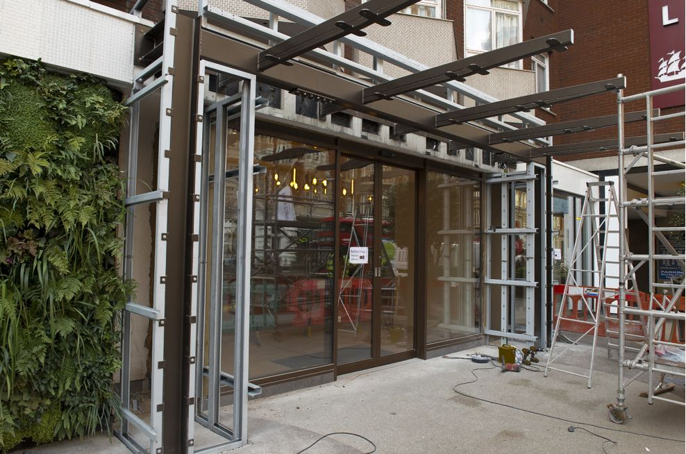 Bespoke Metalwork for Hotel Entrance