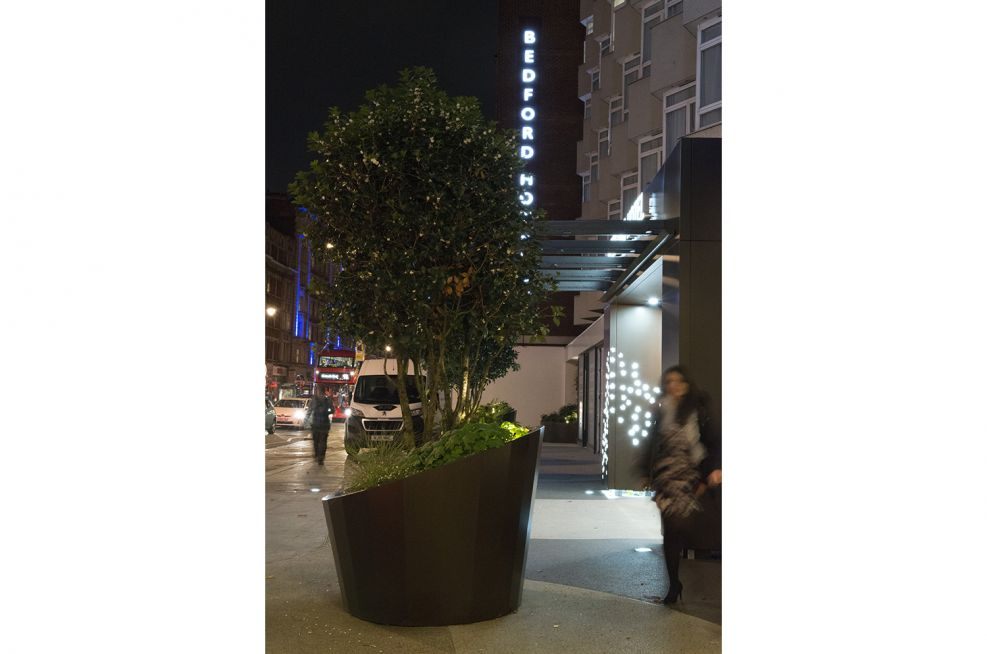Hotel Architectural Metalwork and Entrance Planters