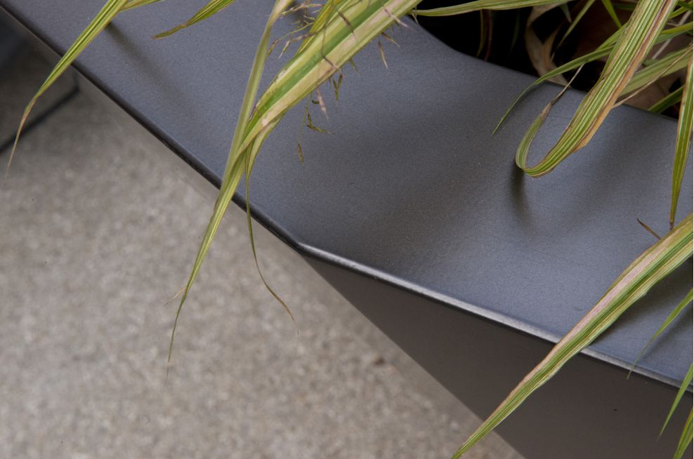 Zintec Steel Planters Close-up