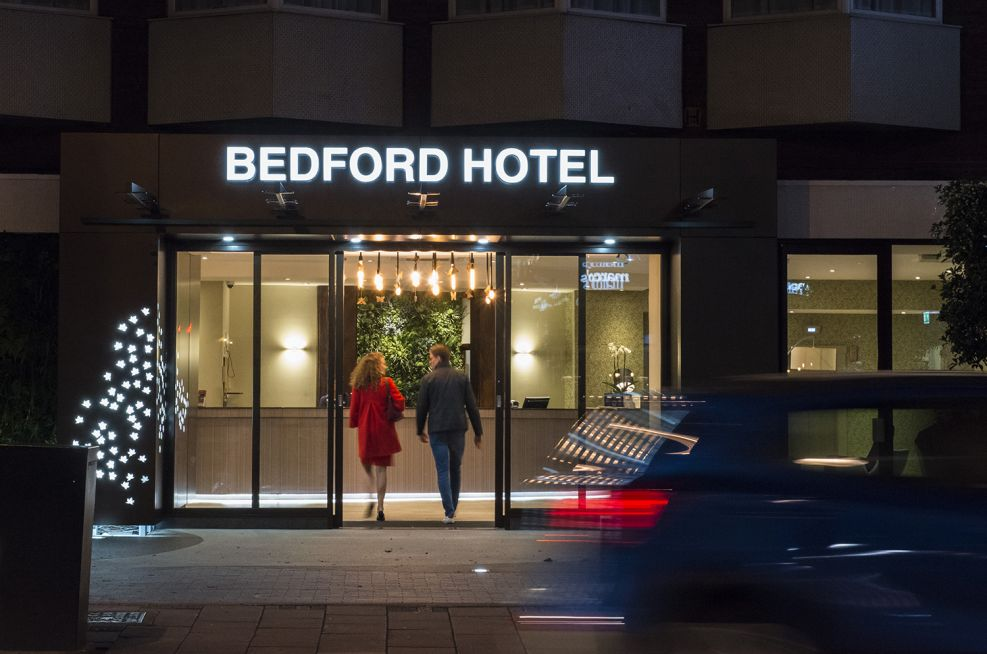 Hotel Frontage Lighting and Signage