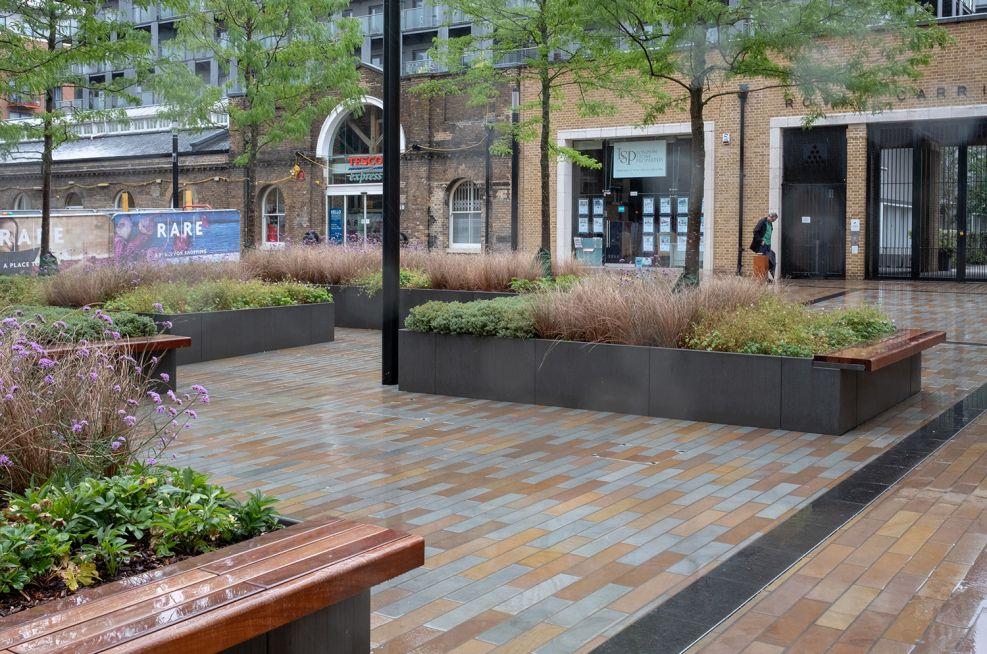 Large planters for public spaces