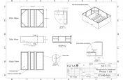 Movable planter CAD design
