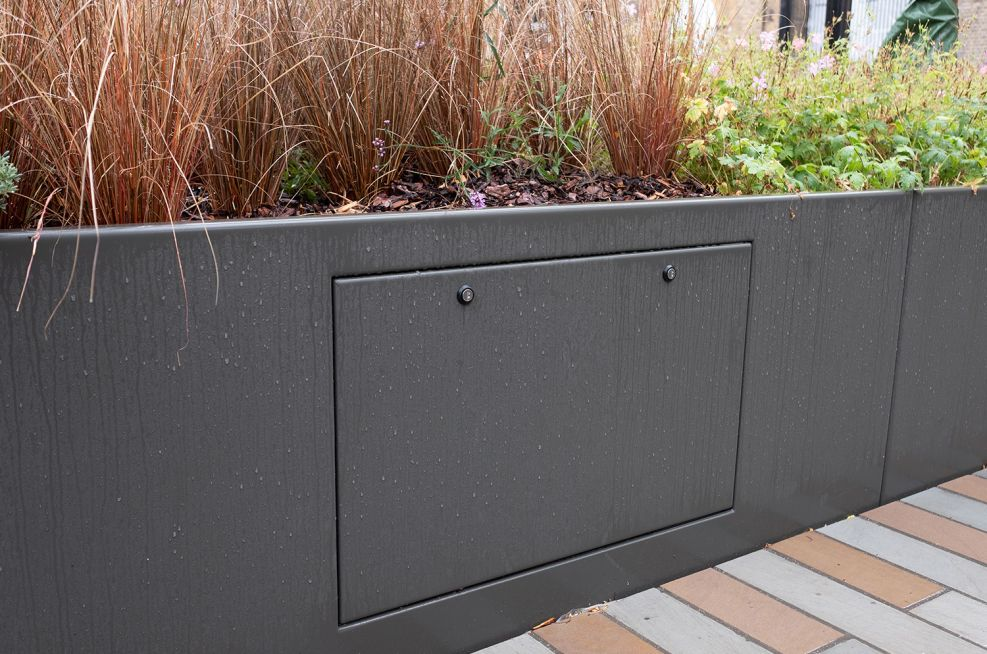 Planter with integrated access panel
