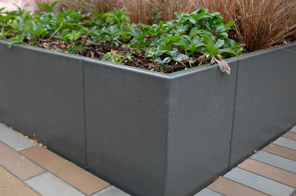 Sectional landscaping planter