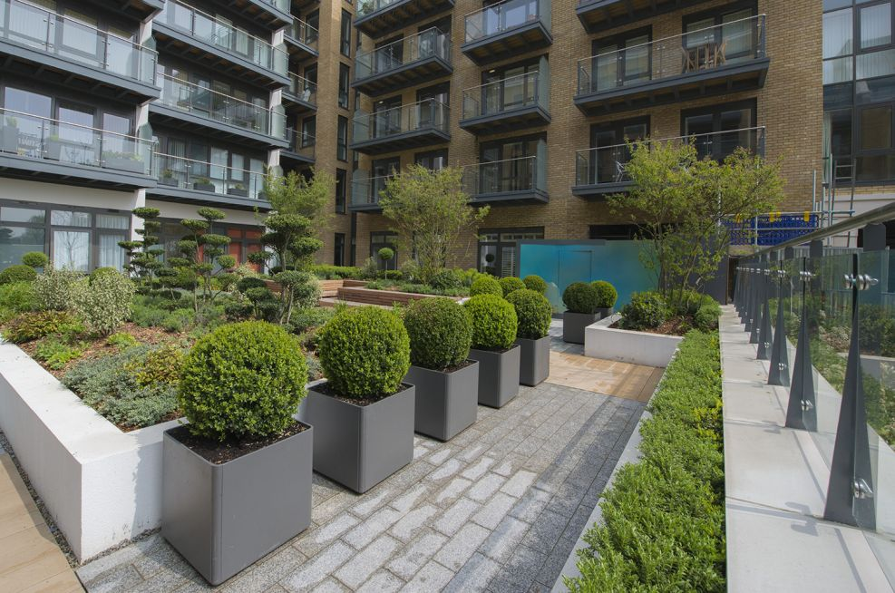 Anthracite Grey Boulevard Planters