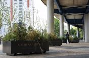 Powder Coated Zintec Steel Planters for South Quay Plaza