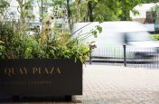 South Quay Plaza Steel Planters