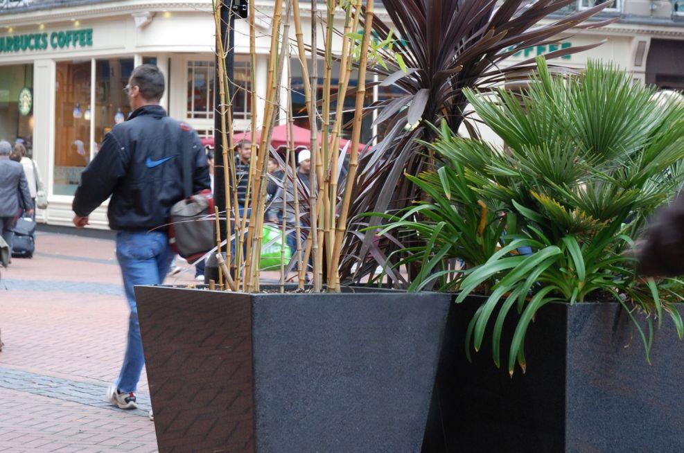 Granite Taper Planter In Birmingham City Centre