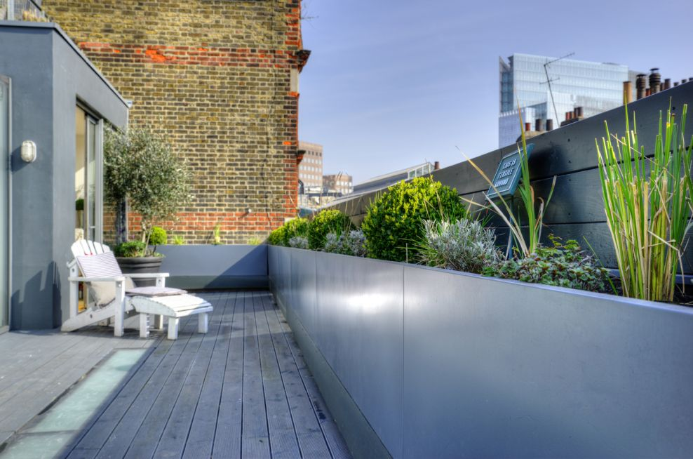Bespoke Steel Planters at Borough Market Apartments