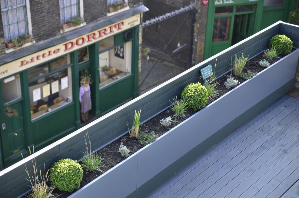 Powder Coated Steel Trough Planters