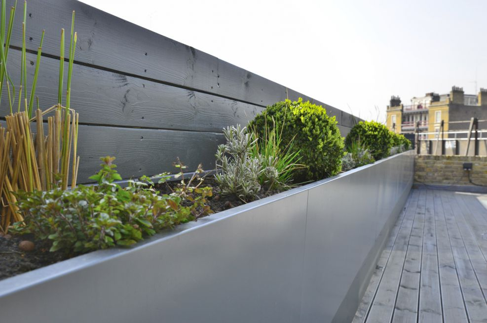 Steel Powder Coated Planters