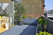 Steel Roof Terrace Trough Planters