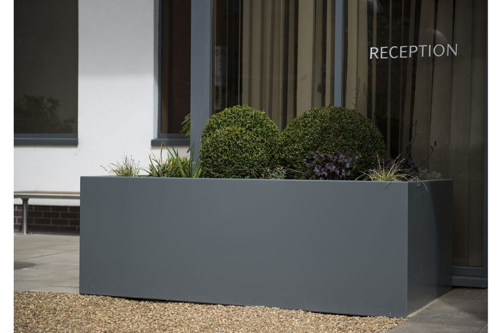 3mm Steel Powder Coated Trough Planters