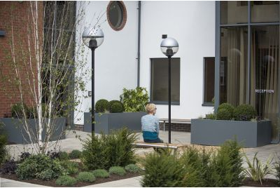 Bespoke Powder Coated Steel Planters at Bracknell Enterprise Centre