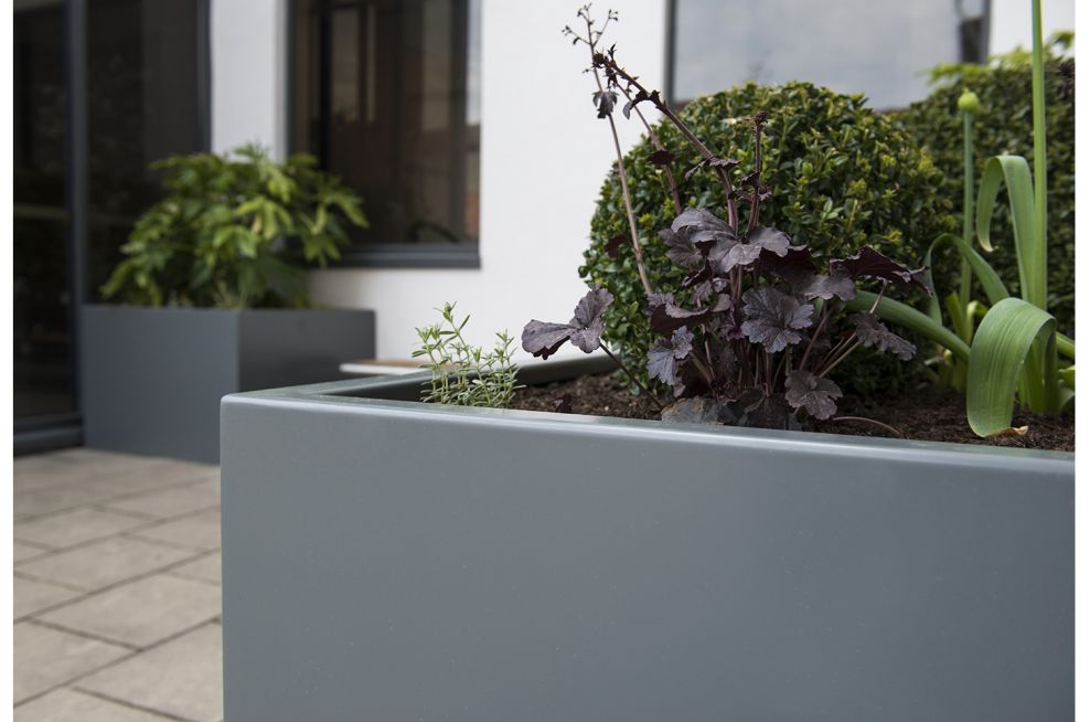 Robustly Constructed Stainless Steel Planters