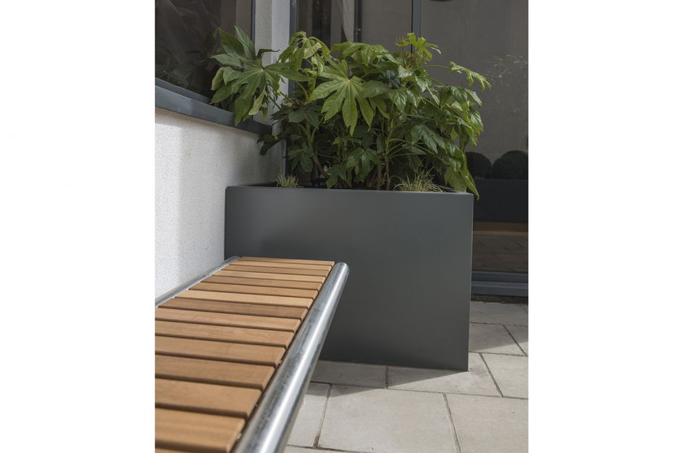 Small Zintec Steel Planters With Powder Coating