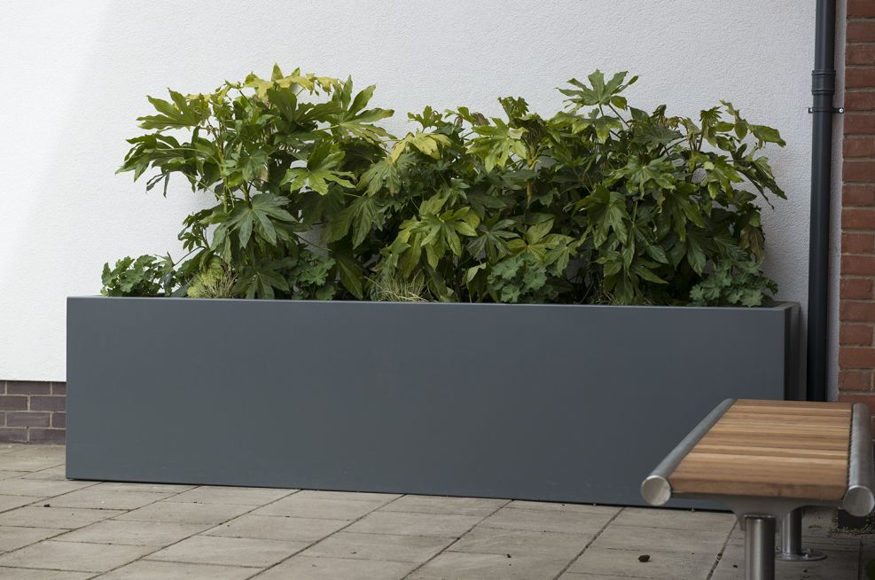 Stainless Steel Polyester Powder Coated Large Planters