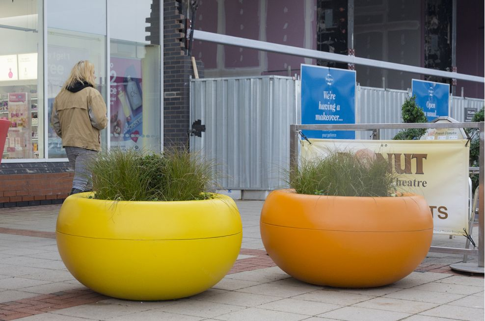 Composite External Planters In A Custom Colour