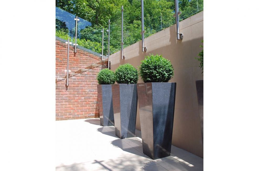 Granite Tall Taper Large Residential External Planters