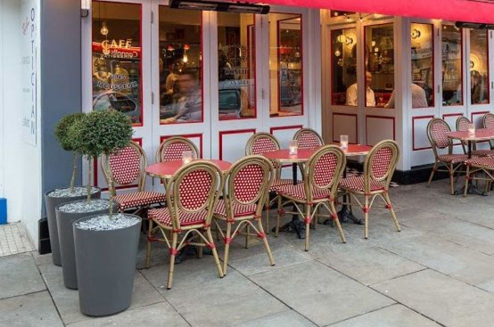Boulevard Planters at Cafe Rouge