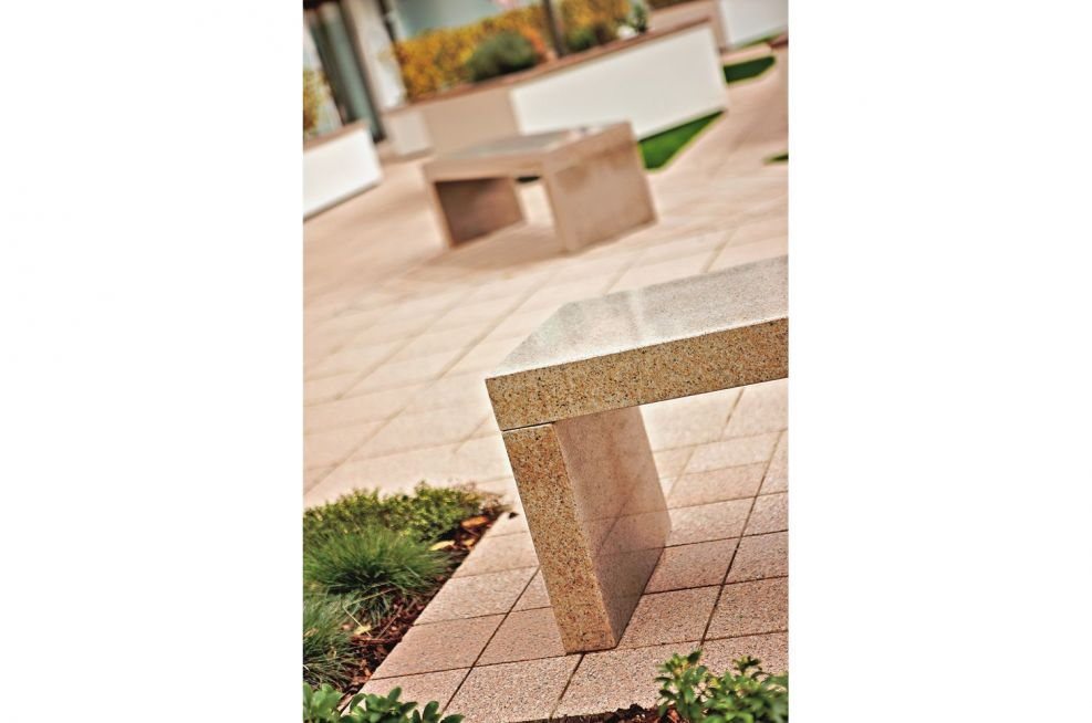 Benches Made From Granite Commissioned For Castle Quay Jersey