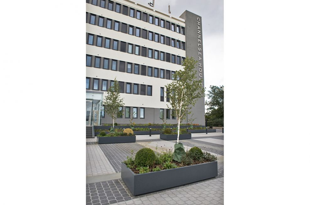 External Planters Made From Stainless Zintec Steel