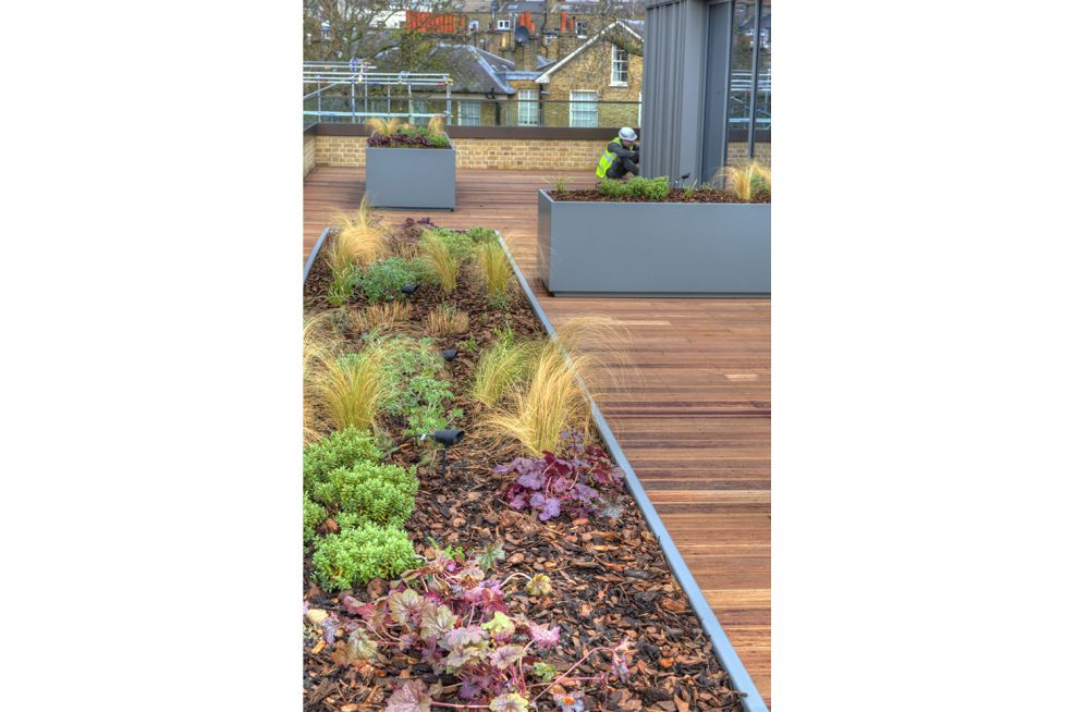 75 Linear Metres Of Stainless Steel Planters Supplied By IOTA