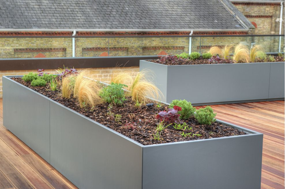 Powder Coated Stainless Steel Planters