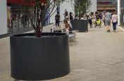 Polyester powder coated aluminium planters