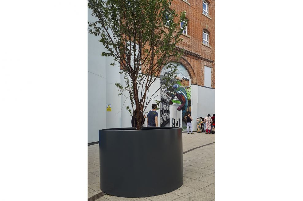Bespoke aluminium street planters
