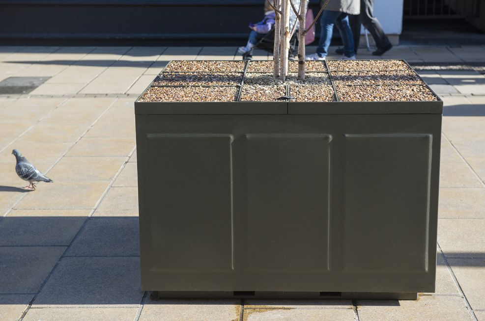 Pressed 4 Panel Planters In Cheltenham High Street