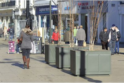 Steel Tree Planters Were Commissioned by Cheltenham Borough Council