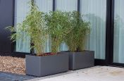 A Pair Of Boulevard Delta 45 Trough Planters