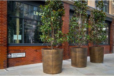 Bartholomew Close bronze tree planters