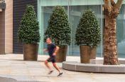 Public realm bronze brass planters