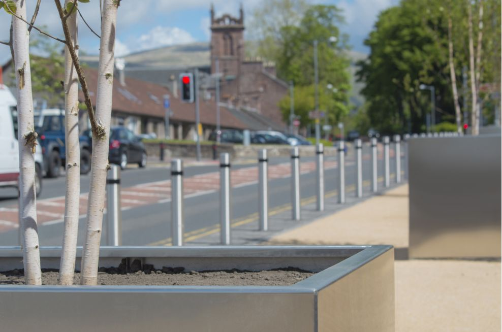 3mm Thick Stainless Steel Tree Planters
