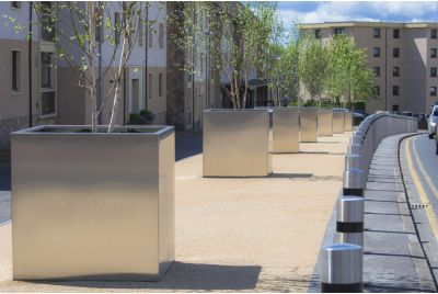 Steel Tree Planters For Clackmannashire Council