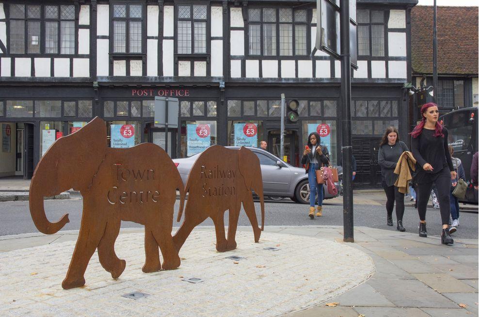 Colchester Town Centre Walking Route Planters