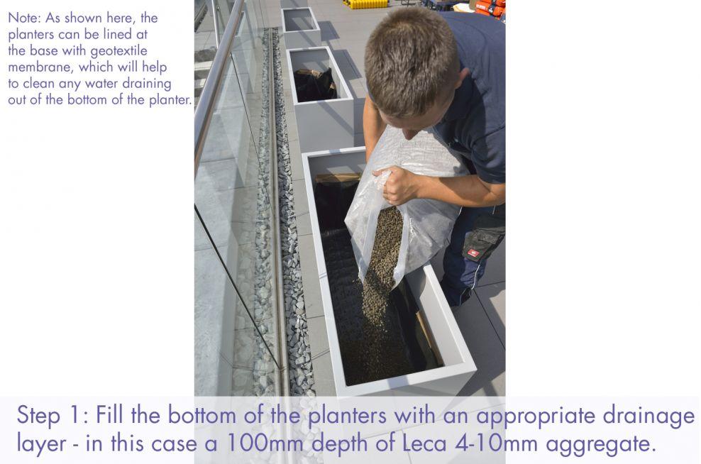 Filling your trough planters