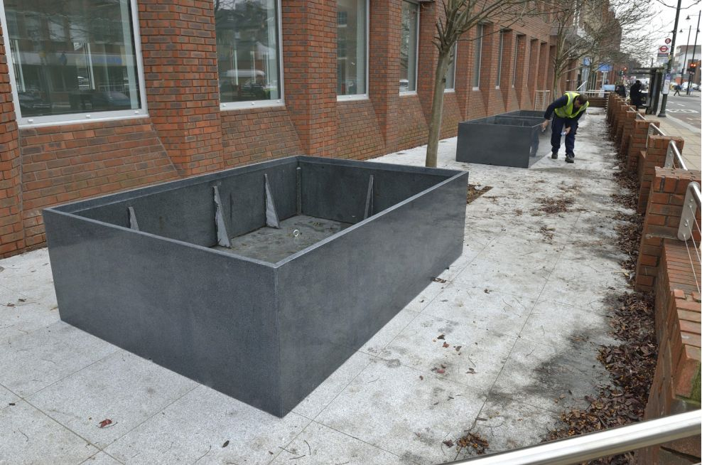 Quarried Granite Stone Planters
