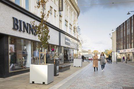 Town centre public planters