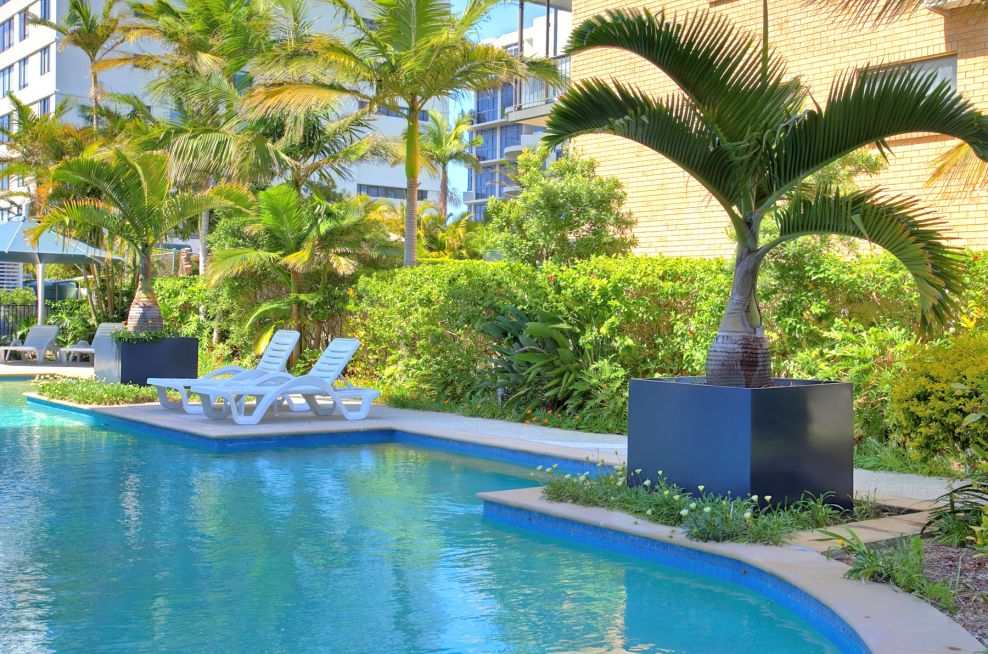 Cube Planters At Deepwater Point Apartments, Queensland