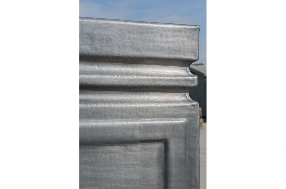 Grey Lead Planters Created For The Council Grounds