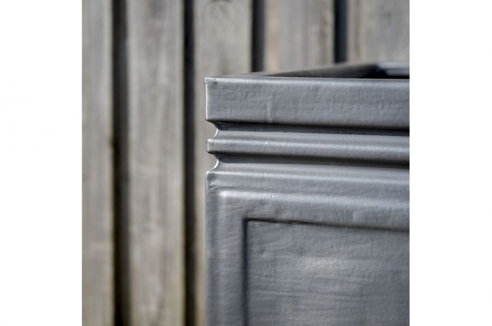 Weatherproof Planters Made From Lead in Grey