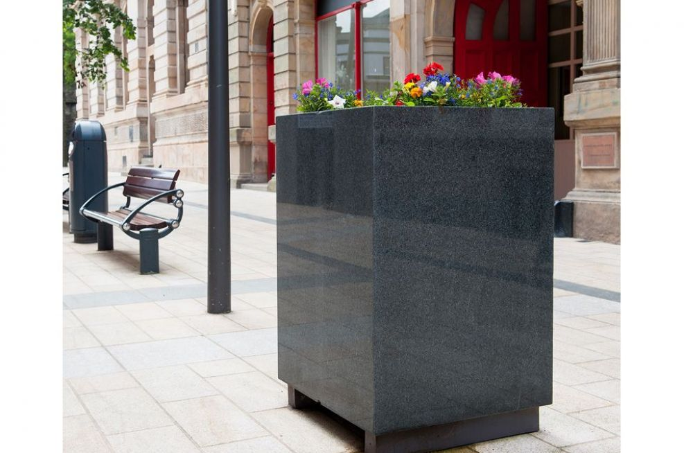 Bespoke Granite Tree Planters For City
